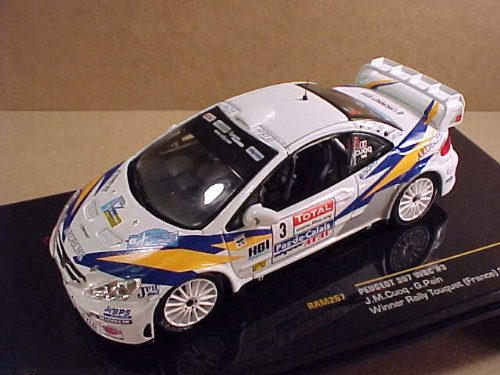 IXO 1/43 Scale Prefinished Fully-Detailed Diecast Model, Peugeot 307 WRC, Winner 2006 Touquet (France) Rally, Total - Ardeche, #3, Cuoq & Pain. RAM267