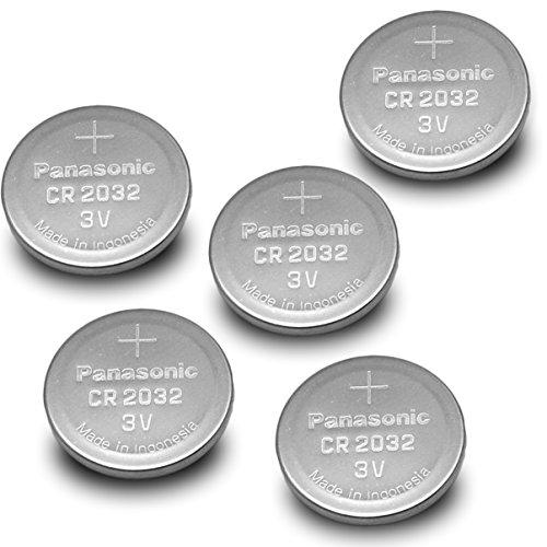 5 Pack Panasonic Cr2032 3v Lithium Coin Cell Battery