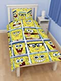 Spongebob Squarepants 'Framed' Single Rotary Duvet Cover + Spongebob Wall Stickers - 35 Pieces. 100% Official Merchandise