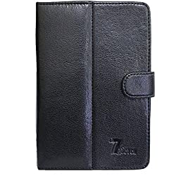 BRAIN FREEZER G4 FINE LEATHER FLIP FLAP CASE COVER POUCH CARRY STAND FOR MICROMAXFUNBOOK TAB P300 BLACK