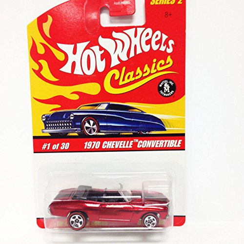 Hot Wheels Classics Series 2 #1 of 30 1970 Chevelle Convertible RED 1:64 Scale - 1