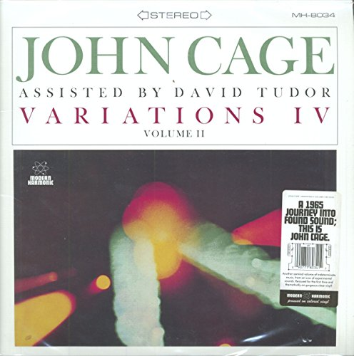 John Cage w/David Tudor - Variations IV, Vol. 2 (LP Vinyl)