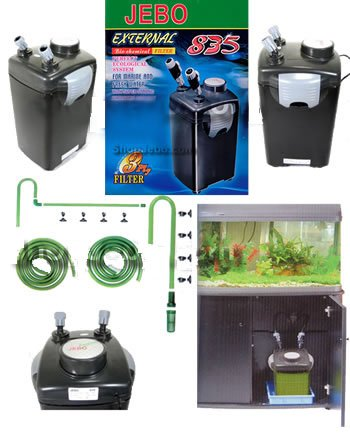 Jebo 835 External Canister Filter for Aquarium -(For Aquariums up to 100 Gallons)