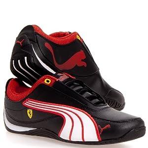 Puma Drift Cat 4 SF Ferrari Kids Junior Trainers (3 UK, Black)
