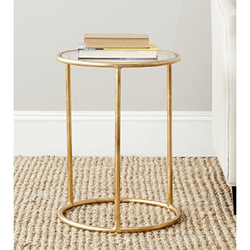 Safavieh Home Collection Shay Gold Accent Table (Accent Pedestal Table compare prices)