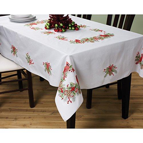 Bucilla Cardinals Stamped Cross Stitch Tablecloth 60 X90 - Douglas J ... 2529b596e