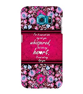 Beautiful Love Quote 3D Hard Polycarbonate Designer Back Case Cover for Samsung Galaxy S6 Edge :: Samsung Galaxy Edge G925