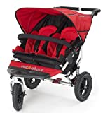 Out n About Double Nipper 360 v3 Narrow TWIN Baby Pushchair (Carnival Red)