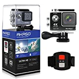 AKASO-EK7000-4K-WIFI-Sports-Action-Camera-Ultra-HD-Waterproof-DV-Camcorder-12MP-170-Degree-Wide-Angle-2-inch-LCD-Screen24G-Remote-Control2-Rechargeable-Batteries19-Mounting-Kits