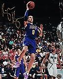 Kyle Kuzma Authentic Rookie Autograph Los Angeles Lakers Summer League Floater Gold Photo