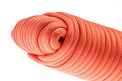 SE PC106OR55 100-ft. Paracord Bundle with 7 Strands, Orange
