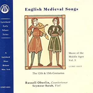 English Medieval Songs