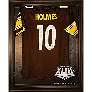 Caseworks Pittsburgh Steelers Super Bowl XLIII Black Cabinet Jersey Display Case