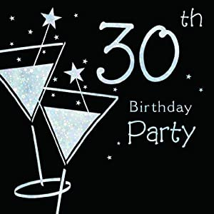 30th birthday party invitations pack of 6 quality cards for 30th birthday party decoration packs