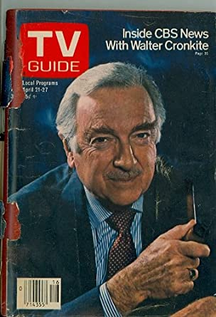 1979 TV Guide April 21 Walter Cronkite (Cover completely detached) - Washington-Baltimore edition - No Mailing Label Poor