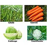 Running Winter Veg Seeds - Chilli Hybrid, Carrot Nantes, Cabbage And Cauliflower! 4 Vty X 2 Pkts-50 Seeds Each...