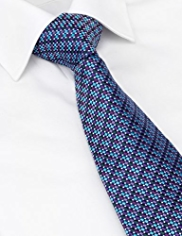 Savile Row Inspired Made in England Pure Silk Multi-Square Embroidered Tie