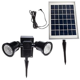 24 LED Adjustable Dual Head Solar Powered Flood Light