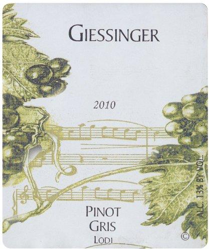 2010 Giessinger Pinot Gris Reserve, Lodi 750 Ml