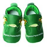 Silly Souls Organic Pest Baby Shoes, Green, 12-18 Months