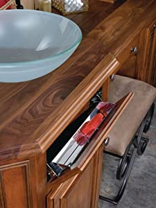 """Rev-A-Shelf 6541 Tip Out - 13"""" Slim Tray Set W/ Hinges - Stainless Steel"""