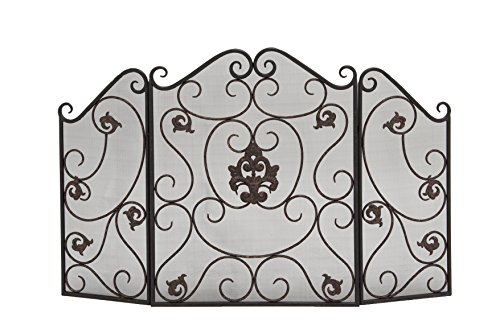 Deco 79 Metal Fire Screen 47 by 30 Inch by Deco Seventy Nine at