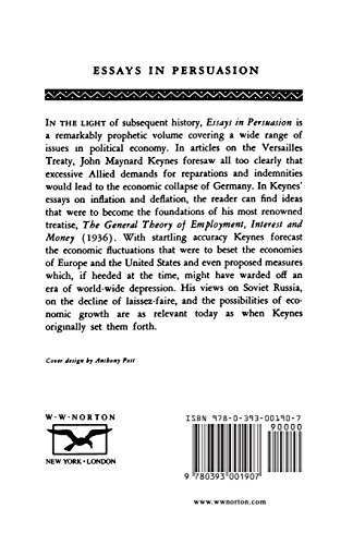 essays in persuasion keynes 30 results in the collected writings of john maynard keynes  essays in  persuasion john maynard keynes edited by elizabeth johnson, donald  moggridge.
