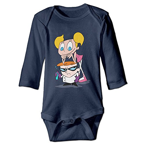 [DETED Dexter's Lab Funny Baby Girls Boys Climb Jumpsuit Size6 M Navy] (Dexter Lab Costume)
