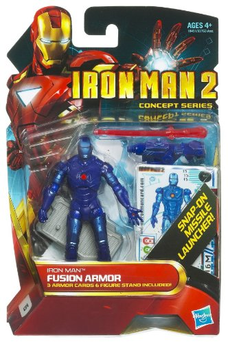 Iron Man 2 Concept 4 Inch Action Figure #15 Fusion Armor Iron Man (Iron Man Action Figure )