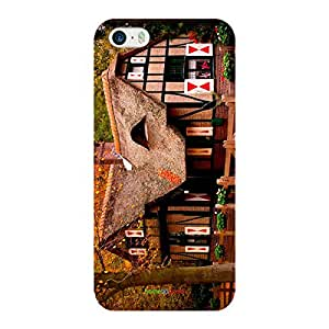 HomeSoGood Vintage Farm House Multicolor 3D Mobile Case For iPhone 5 / 5S (Back Cover)