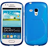 Silikon Hülle Samsung Galaxy S3 Mini - Blau - S-Style TPU i8190 PhoneNatic S 3 SIII Mini glänzend Case Silikon Cover Hülle Schutzhülle + Schutzfolie