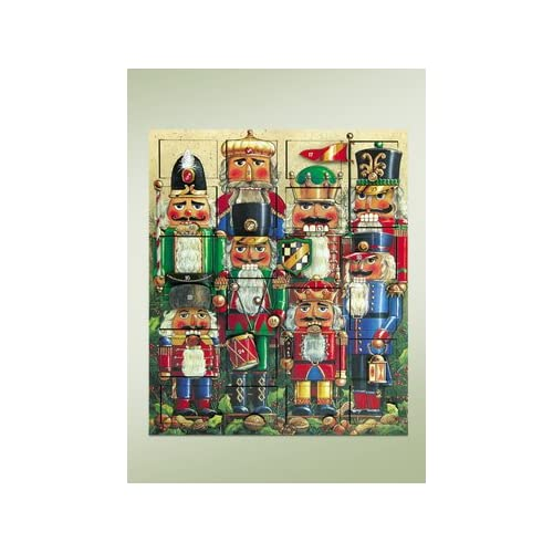 Amazon.com : Byers Choice Nutcrackers Wooden Advent Calendar ...