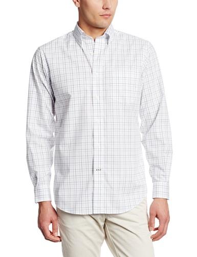 Nautica Men's Wrinkle-Resistant Window Pane Shirt
