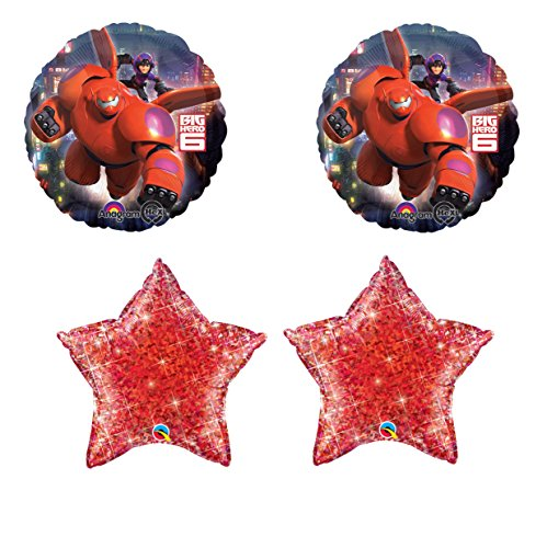 Disney's Big Hero Balloons with 2 Red Holographic Stars Kit - 1