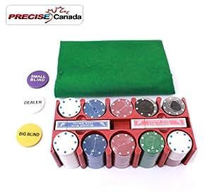 Casino style poker set precio