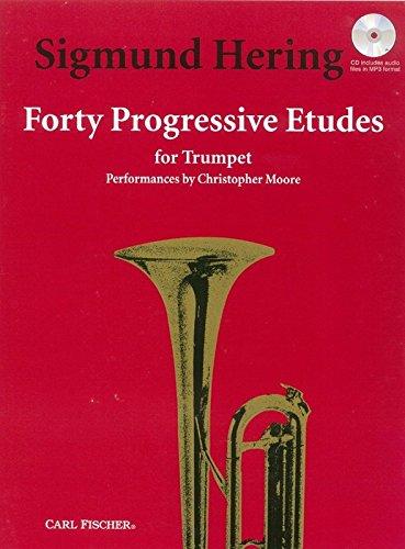 sigmund-hering-40-progressive-etudes-trumpet-solo-sheet-music-cd