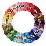 200 échevettes de fil multicolore pour point de croix broderie tricotage crochet...