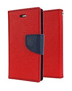 RJR Mercury Goospery Wallet Style Flip Back Case Cover For Sony Xperia C3-Red&Blue