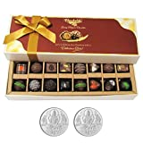 Chocholik Belgium Chocolates - Amazing Combination Of 8 Dark And 8 Milk Chocolate Box With 5gm X 2 Pure Silver...