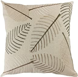 Decorative Leaf Emboirdery Floral Throw Pillow Cover 18\