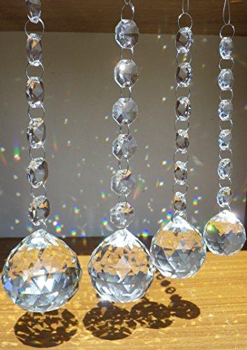 サンキャッチャー 6連 30 40 50 60 mm クリスタル ガラス ボール 大きい 風水 運気 アップ (30mm)