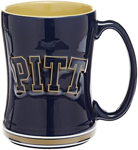 NCAA Pittsburgh Panthers Sculpted Relief Mug, 14-Ounce