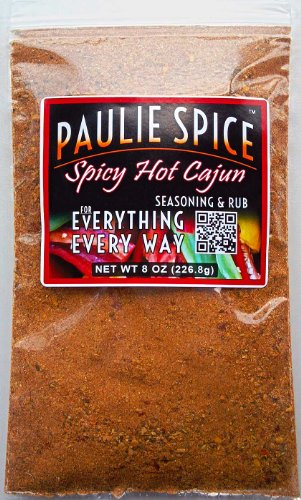 Paulie Spice : Cajun Seasoning & Rub : Hot & Spicy Blend : Amazing On Bbq, Steak, Chicken, Wings, Pork, Seafood, Fish And Soup : 8 Oz