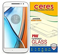 Ceres Antibacterial Tempered Glass Screen Protector For Moto G, 4th Gen, Ceres A-Glass (0.33mm)