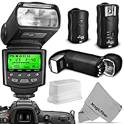 Altura Photo Flash Kit for NIKON DSLR D7100 D7000 D5300 D5200 D5100 D5000 D3300 D3200 D3100 - Includes: Altura Photo I-TTL Auto-Focus Dedicated Speedlite Flash + Wireless Camera Flash Trigger and Camera Remote Control Functio