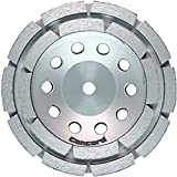 """Concord Blades GCD070FCP 7 Inch Double Rowed Diamond Brazed Cup Wheel with 5/8""""-11mm Thread"""
