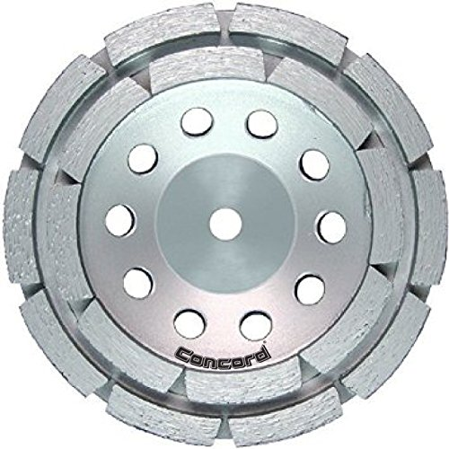 """Concord Blades GCD045FHP 4.5 Inch Double Rowed Diamond Cup Wheel with 5/8""""-11mm Thread"""