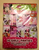 Disney Minnie Mouse Disney Handcraft 10 Girls Panties Sz 2t/3t !
