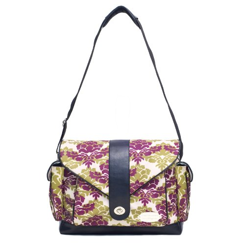 JJ Cole Myla Diaper Bag, Boysenberry Fleur (Discontinued by Manufacturer)