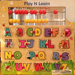 Garanimals Play n Learn Alphabet Pegged Wood Puzzle